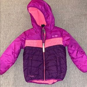 Pink/purple puffer coat with fleece lining